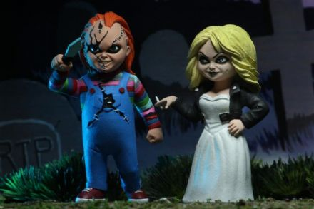 NECA Bride of Chucky Toony Terrors Chucky & Tiffany 2-Pack